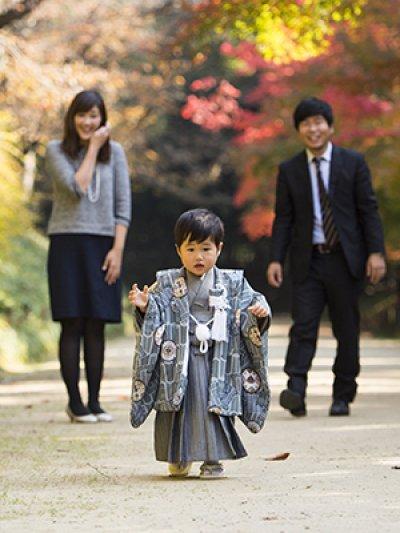 画像3: 羽織袴グレー【対応年齢】3歳0ヶ月〜4歳0ヶ月 【対応身長】85cm〜95cm