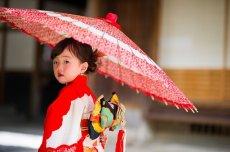 画像3: 【アンティーク着物】3歳女の子 古典柄 白雲 (3)