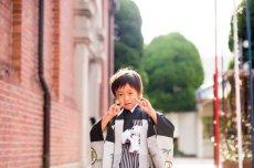 画像8: *サイズ調整不可 羽織袴  アンティーク鷹かぶと 黒【対応身長】110cm〜115cm (8)