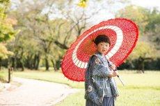 画像3: 羽織袴グレー【対応身長】90cm〜100cm (3)