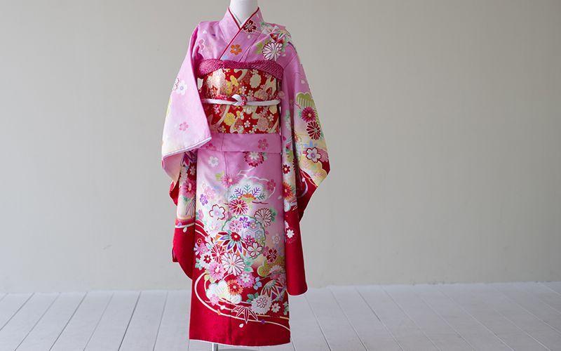 画像1: 【帯】古典柄 まり ピンク 【対応身長】115cm〜125cm (1)