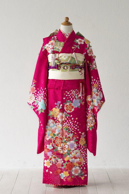 画像1: 【帯】 桜チェリー  【対応身長】115cm〜135cm (1)